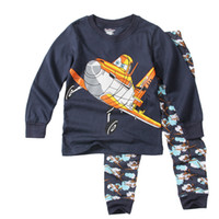 Cheap 2016wholesale kids clothes autumn baby boy sleepwear suit plane costume clothing sets kids newborn cloth pullover outfit bebe