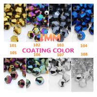 czech seed beads - Czech Seed Bicone Bead mm Coating Color Crystal Bicone Beads Pick Color DIY Jewelry Faceted Glass Crystal Beads Spacer