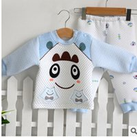 baby production - Specializing in the production of neonatal thick warm long sleeved suit Baby Underwear Open file cotton baby clothing SLB