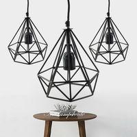 art bart - Newest Art Deco Vintage E27 pendant light LED lamp metal cube cage lampshade light hanging light fixture for ktv Bart Art Lights