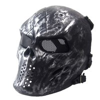 Wholesale Halloween Iron Full Tactical Skull Skull Airsoft Mask Outdoor Paintball facemask Skeleton Skull Face Protection Tactical Masks
