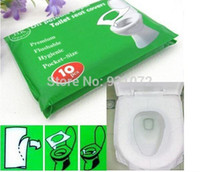 Wholesale 50 Packs Disposable Paper Toilet Seat Covers Camping Festival Travel Loo bathroom set accessories