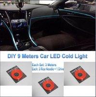 ambient lighting car - For Audi DIY Meters V Car EL Cold Light LED Interior Lights Decorative Ambient Lighting Lamp Romantic Interior Iights