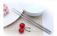 Wholesale Home Kitchen Dinnerware Stainless steel chopsticks Chinese Chopsticks Kitchen Rrestaurant Chopsticks pair