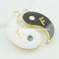 best tai chi - 14444 SET Alloy Enamel Best friend Ying Yang I Ching Bagua Tai Chi Pendant