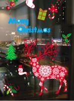 arcade style - 6 Styles Christmas decorative window post color electrostatic paste window glass decoration christmas decoration Arcades Hotel decoration