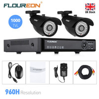 Wholesale FLOUREON X4CH H HDMI CCTV DVR XOutdoor TVL P2P IR Cut security Cameras HDMI Security Set