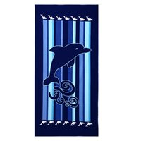 adult baby chair - Beach Towel Bath Towel Beach Chair Cover Blue Dolphins Printed Boys Girls Children Adults Non Fading