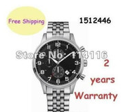 arrival date - NEW ARRIVAL Factory Seller AAA Mens HB1512446 Chronograph Black Dial silver Bracelet Watch