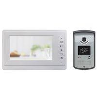 Wholesale Hot inch RFID Video Intercom Color Video Door Phone Doorbell Access Control System IR Doorphone V70F ID