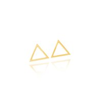Wholesale 2016 Fashion BVL Jewelry From India Minimalist Geometric Triangle Stud Earring Women Stainless Steel Small Earrings Bijoux Femme