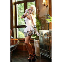 beer lacing - Perfect Strapless Lace Dress Sexy White Fantasia France England Maid Service Coffee Beer Wench Costume Adult Cosplay Girls