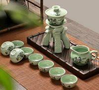 automatic teapot - Celadon lazy automatic tea sets The whole set of kung fu tea set ceramic cups tea accessories prevent hot teapot