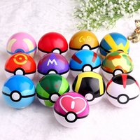 Wholesale Pokémon Go Plastic Poke Ball Greate Ball Ultra Ball Master Ball One Set Have High Imitation cm Pikachu