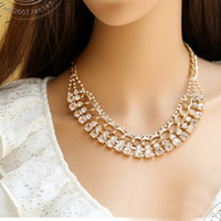 Wholesale Fashion Trendy Rhinestone Luxury Choker Statement Necklaces New Fashion Jewelry Necklaces Pendants