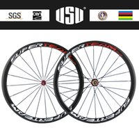 Wholesale mm carbon wheel clincher SuperTeam logo painting Powerway R36 hub carbon wheelset road bicycle