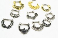 Wholesale LOT50pcs G mm PUNK Nose Septum Clicker Ring Nose Ear Nipple Ring piercing jewelry for Girls Women