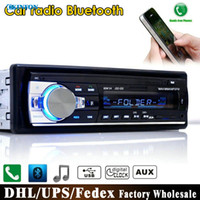 Wholesale DHL Fedex JSD V Bluetooth Car Stereo FM Radio MP3 Audio Player V Charger USB SD AUX APE FLAC Subwoofer In Dash DIN