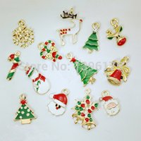 Wholesale 170pcs Fashion Cute Metal Christmas Styles Vintage Retro Chain Pendant Gifts Random Styles Mixed
