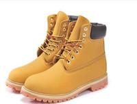 al por mayor ankle man boots-Venta al por mayor de la nave libre de la nieve del invierno Botas Marca hombres del cuero genuino impermeable al aire libre botas de cuero de vaca zapatos para caminar cargadores del ocio del tobillo