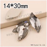 Wholesale mm Black Diamond Leaf Crystal Rhinestone Glass Flatback Strass Sew On Loose Beads For Wedding Dress