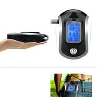 Wholesale breathing type alcohol tester AT6000 portable alcohol testing LCD Breath Alcohol Tester Breathalyzer driving tester Breath Tester