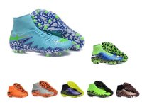 Wholesale Hot Sale Soccer Boots Hypervenom Phantom II FG Cleats Men Football Shoes Original Football Boots Men s Outdoor Sport Athletic