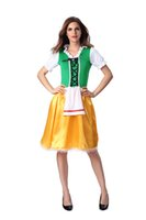Wholesale Women Sexy Green Beer Girl Costume German Oktoberfest Carnival Maid Fancy Dress Plus Size M L XL