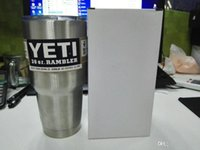 Wholesale 2016 New oz Bilayer Stainless Steel Insulation Cup OZ YETI Cups Cars Beer Mug Large Capacity Mug Tumblerful