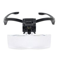 Wholesale B Adjustable Lens LED Illuminated Headband Glasses Bracket magnifier x x x x x Led