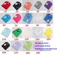 Wholesale S XL Men Polos Shirt New Summer Cotton Short Top T shirt Quick Dry Embroidery Casual Turn down Collar Clothing Clothes styles HH T18