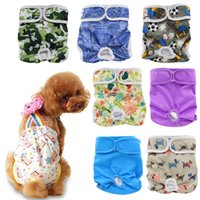 Wholesale Ohbabyka Reusable Dog Diapers Washable Doggie Diapers Lovely Dog Nappy Changing Pet Dog Pant Stylish Sanitary Dog Pants colors