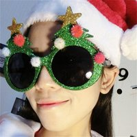 Wholesale Sunglasses Costume Wholesale - Christmas Tree Adult Sunglasses Makeup 15x9cm Party Funny Fashion Glasses Cosplay Dance Party Accessories Party Decoration