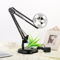 Wholesale US Stock New Fashion Modern Style W Rechargeable Metal Lamp Adjustable Table Lamps Desk Reading Lights Bedroom Beside Lighting AC V
