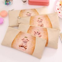 baby cleaning supplies - Zakka Creative Monster Baby design canvas pencil bag clean up bag office school supplies