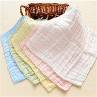 Wholesale Newborn Baby Cotton Towels Set Washcloth Baby Gauze Muslin Cute Toallas Square Soft Cute Newborn Towels Comfortable A0028