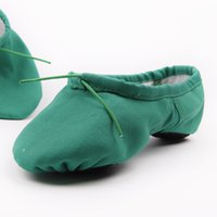 Wholesale Women s Dance Shoes Ballet Yoga Dance Sneakers Gymnastics Cotton Flat Heel Green