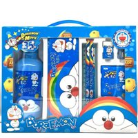 Wholesale Cartoon water bottle stationery My Little Pony minions Cars Frozen Hello Kitty Spiderman Pokonyan anime pattern pencil cases gift sets