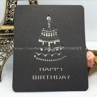 Wholesale Laser Cut Birthday Cake Printable Party Invitation Cards Multicolor Greeting card Gift Card Festival Supplies K58