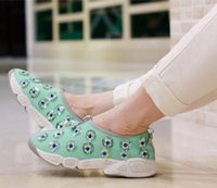 beaded mesh fabric - Hot sales New Listing Sell fashion Hot summer Beaded flowers net Breathable women casual shoes women