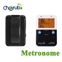 Wholesale Cherub WSM Clip on Mini Rechargeable Electronic Metronome with LED Light Preset Portable