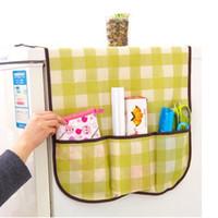 used refrigerators - 200pcs Home Grid Fridge Dust Cover Lattice Refrigerator Dust Proof Cover Muti use Pouch Organize Storage Bag ZA0652