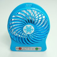 batteries source - Factory Supply colors desktop mini fan with LED light USB rechargeable lithium Battery Power Source battery DHL