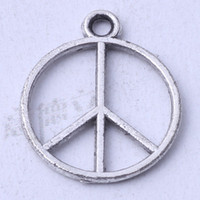 antique silver marks - Peace mark Pendant DIY jewelry pendant fit Necklace or Bracelets Antique Silver bronze charms z