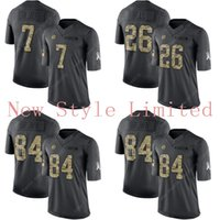 admiral services - Limited Steelers Le Veon Bell Ben Roethlisberger Antonio Brown Black Admiral Salute To Service Stitched Embroidery Football Jerseys