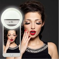 Wholesale LED Selfie Ring Light for iPhone6 s plus plus Samsung Galaxy Blackberry Bold Touch Sony Xperia Motorola Droid and Other Smart Phones