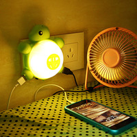 animal motion sensors - Creative Tortoise Multi socket with Dual USB Ports LED Intelligent Sound and Light Control Sensor Night Light Bedroom Lamp