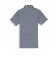Wholesale HOT SALE Men s shirt M lapel T shirt men s short sleeve T shirt colors can choose