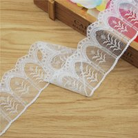 Wholesale Top High Quality Leaf Lace Trim mm white Gorgeous Cheap Lace Fabric Trim Ribbon DIY Garment Sewing Accessories yards L5199