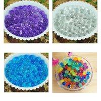 Wholesale Pearl Shaped Polymer Crystal Soil Water Beads Mud Grow Magic Jelly Gel Balls Aqua Soil Crystal Plant Soil Beads
